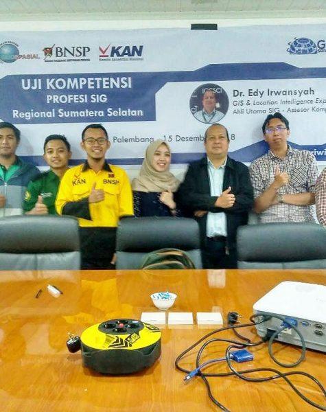Aktifitas Uji Kompetensi SIG - LSP Geospasial Palembang (2)